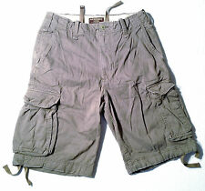 NEW - NWOT - RRP $189 - Mens Premium ABERCROMBIE & FITCH Grey Cargo Shorts