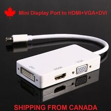 3 in 1 Mini Display Port to HDMI VGA DVI adapteur Adapter Blanc for Mac Pro A009