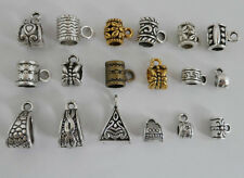 18pcs Mixed Silver/Gold/Bronze Connectors Spacer Bail Beads For Jewelry Making