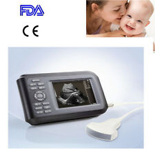 "5.5 "" Palmtop Ultrasound Machine Scanner Digital  + Convex Sensor For Human Kit"