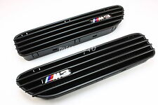 01-06 BMW E46 CSL/SMG 2D 4D M3 BLACK Side Fender Grille GRILL Vents