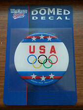 "US OLYMPIC RINGS USA USOC OFFICIAL DOMED DECAL 3"" FULL COLOR MADE IN USA"