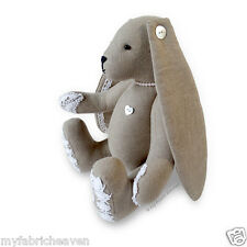 "Lacy Bunny Sewing PATTERN Floppy Eared Bunny Rabbit 11"" Soft Toy & Instructions"