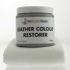 LIGHT GREY Leather Dye Colour Restorer for BMW Leather Car Interiors, Seats etc.