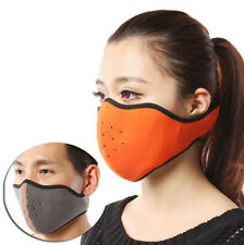 Outdoor winter warmer Velcro cycling Fleece wind protection half face mask