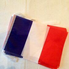 Guirlande drapeau France / 12 drapeaux de 15 cm X 20 cm / Longueur 2 metres