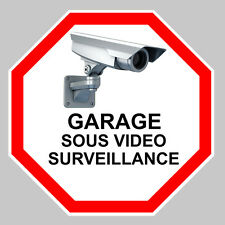 GARAGE VIDEO SURVEILLANCE CAMERA PROTECTION 100mm AUTOCOLLANT STICKER (GA069)
