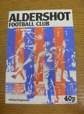 20/11/1984 Aldershot v Newport County [FA Cup Replay] (Scores Noted).  We are pl