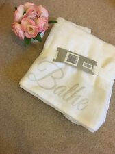 Set Of Two White 100% Cotton Sparkle Bling Hand Towels
