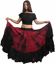 Cotton Gypsy 25 Yard Skirt 4 Tier Skirt Tribal fusion Belly Dance