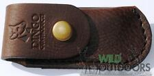 Dingo Gun Products - Horizontal FOLDING Knife Pouch-Brown Outback Leather-4-4.5""