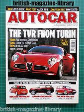 Autocar 16/9/2003 Alfa 8C Competizione Road Test Mazda RX-8 Westfield Sport Cars