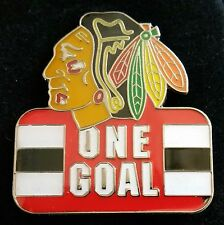 2015 NHL CHICAGO BLACKHAWKS ONE GOAL Lapel Pin