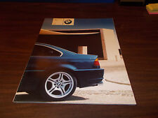 2001 BMW 3-Series Coupe Deluxe 80-Page Sales Catalog