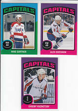 14/15 OPC Washington Capitals Sticker Team Set Kuznetsov Gartner Ovechkin