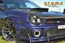 Subaru Impreza Front Bumper Splitter / Lip with Pair of RODS INCLUDED v4