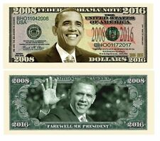 """Farewell  Mr President - 2008-2016 Commemorative Dollar Bill"