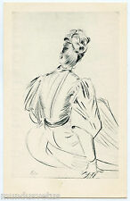ARTIST SIGNED. PAUL CéSAR HELLEU. ESQUISSE. FEMME. WOMAN.