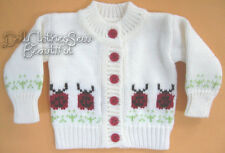 "Ladybug Cardigan Sweater made for 18"" American Girl Doll Clothes"