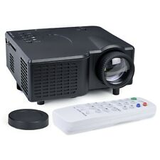 Portable Mini LED Projector HDMI VGA USB LCD Image SD Slot & Controller Black