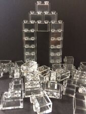 Lego New Lot Of 50 1X2 Bricks White Transparent Clear Translucent Without Pin