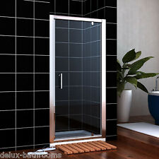 1000x700mm Pivot Shower Door  Glass Screen doors Enclosure Cubicle +Shower Tray