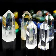 2Pcs Clear Natural Quartz Crystal Wand Point Specimens Healing Seed Rock 40+g