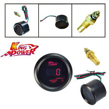 "Car Motor Black 2"" 52mm Red Digital LED Electronic Water Temp Temperature Gauge"