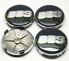 4 centres de roues caches jantes Tuning BBS Carbone noir BMW AUDI VW etc 68mm