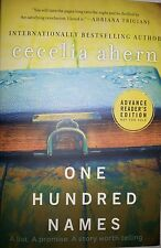 One Hundred Names by Cecelia Ahern  ARC ADVANCE READERS COPY UNCORRECTED