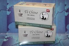 2 TE CHINO del DR MING 60 BAGS, slimming detox slimming tea colon cleanse