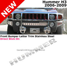 Hummer H3 06-10 Stainless Steel Front Bumper Chrome Letters Trim Kit