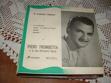 """PIERO TROMBETTA """" CAMINITO + 3 """" E.P.  ITALY'56"""