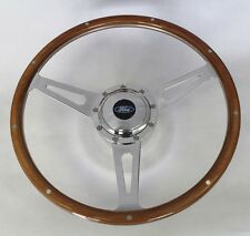 """Mustang Torino Galaxie Cobra Style 9 Hole Wood Steering Wheel 15"""" Ford Center"""