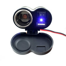 12-24V Motorcycle Phone USB Power Supply Port Cigarette Lighter Socket Outlet