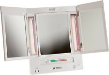 Jerdon 5X Magnification Tri-Fold Lighted Makeup Vanity Mirror JGL9W NEW!