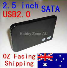 USB 2.0 Slim 2.5 SATA Hard HDD Drive Disk External Enclosure Case Toolless Caddy