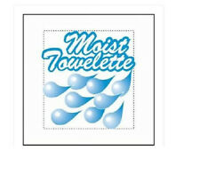 100 Moist Towelettes  6 X 4 Wet Wipes Disposable Napkin Scented  Individual Naps
