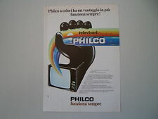 advertising Pubblicità 1976 TELEVISORE PHILCO
