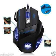 Professional Wireless Game Mouse 7 Button 2400DPI LED Optical Computer Mouse