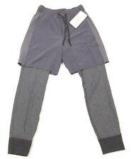 NWT Mens Lululemon One Two Jogger Pants 2 in 1 Shorts and Sweats Element Gray S