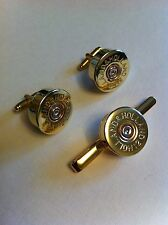 Holland & Holland shotgun shell cartridge cap cufflink and tie slide gift set