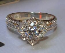2.50CT BRILLIANT CUT BLOSSOM DIAMOND ENGAGEMENT RING IN 14KT SOLID WHITE GOLD