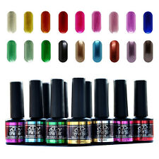 Choose 6 Colors 10ML Metal Mirror Base Top Coat Che UV LED Soak Off Nail Art Gel