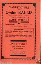 ▬►CATALOGUE CYCLES VÉLOS TANDEMS  BALLIS de 1939