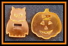 2 pc Halloween Detailed Cookie Cutters Set #17 EUC