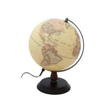 "10"" Antique Ocean World Globe Illuminated Table Top With Wooden Base New"