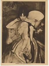 ANTIQUE DARK HAIRED EYED BEAUTY VICTORIAN WOMAN CORSET WAIST DRESS HAT ART PRINT