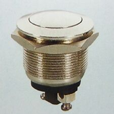 Pushbutton Momentary Chrome Switch On-(off) - 4A,125V or 2A,250V ( 28B126 )