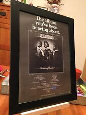 "FRAMED ORIGINAL BEE GEES ""CHILDREN OF THE WORLD"" LP ALBUM CD PROMO AD + BONUS!"